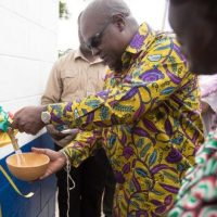 Mahama Installs water project at Kpando