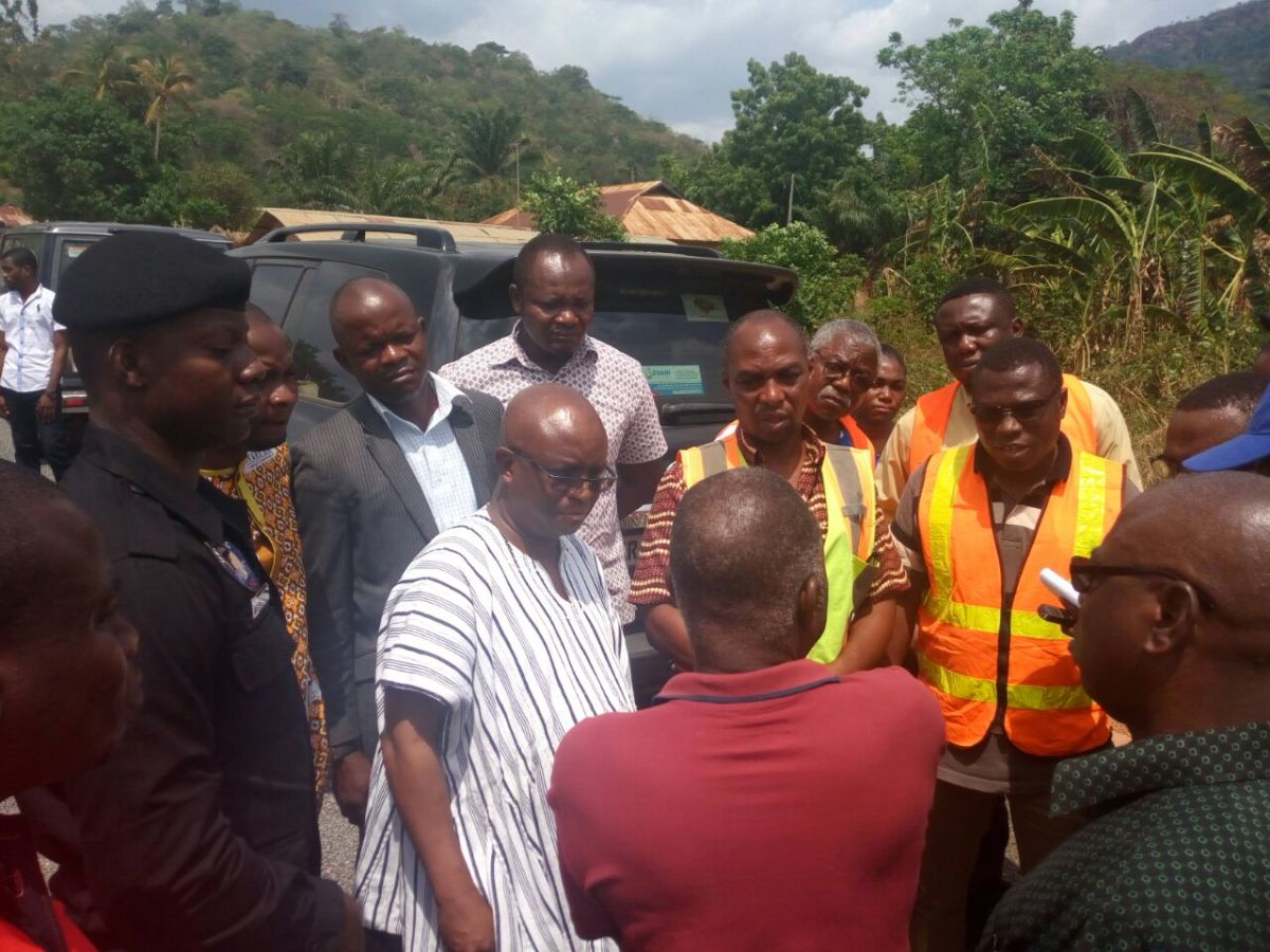 Volta Regional Minister inspects Easten corridor roads