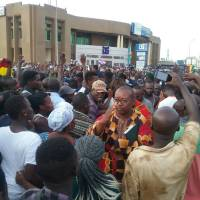 Nana Addo receives a rousing welcome at Aflao border